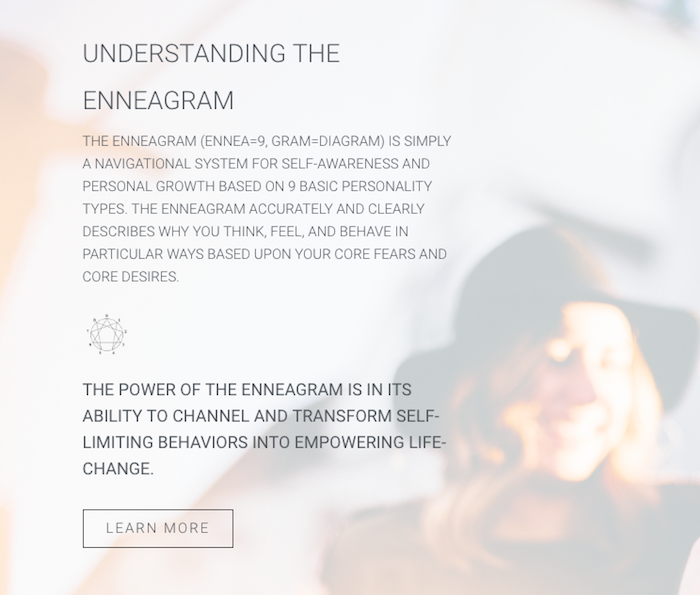 deepwell enneagram coaching website design