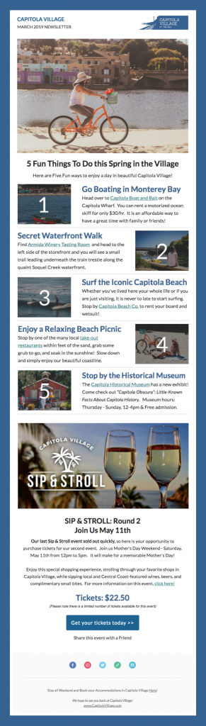 Capitola Village Email Newsletter
