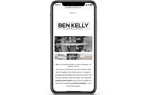 mobile friendly website design on iphone